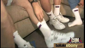 woman guys white ebony gangbang Ultra skinny teen public creampied