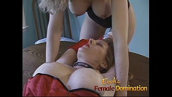 slut tied up lesbians Wank on stockings