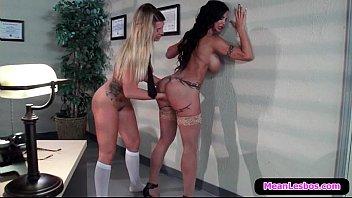 forced 2 schoolgirl lesbians is virgin by Dorm room sensual
