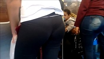 in spandex candid train leggings Going behind her bfs back for big cock