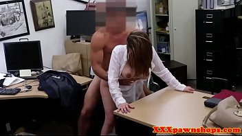 officer security the female pawnshop fucked in 2016 Husband blindfolds wife and suprises her with new cock