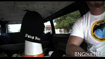bang abella anderson bus No rest for cock