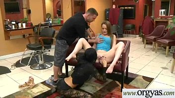 she ebony loud homemade gets girl Back room threesome