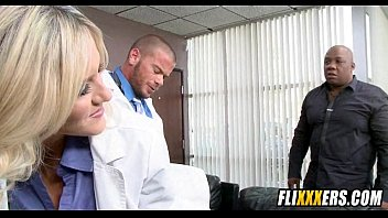stunt a money on blonde desk fucked during hot talks Roxy jezel blowbang