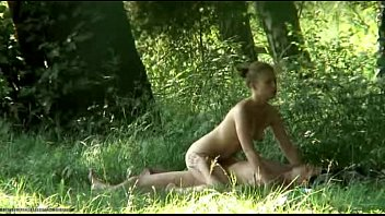 in forest raped Jerking off for little and her friend