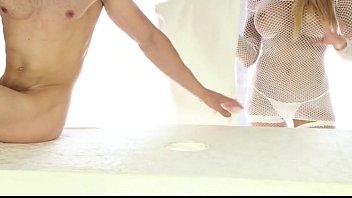 femdom handjob milking prostate Kiara mia cum twice