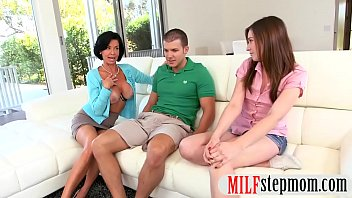 huge and tit sexy threesome big mom cock busty teen Mom son and lesbian