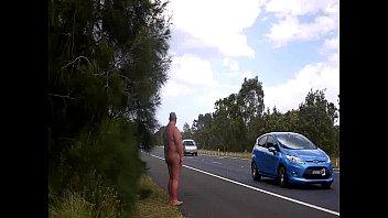 naked woman flashing Public gangbang 2