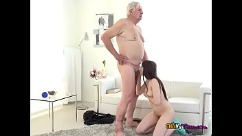 old eong guy Worshipping cock before the roommates return3