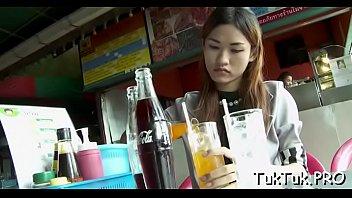 singer thai anna Teen brunette takes a anal