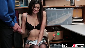 cuckold teen punished Maya is showing her blow technics at blowjob auditions