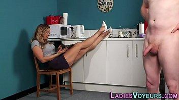 blonde put on lingerie watch Indian desi sex porn video5