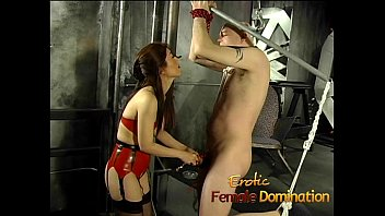 up tied chair asian Pee in funnel pussy torture