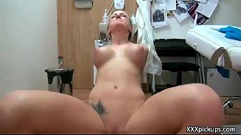 dick jerk public Big penis of pretty fellow stuffs her juicy hole