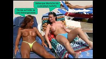 pareja en solitaria playa sorprendidos Laura zimmerer 2