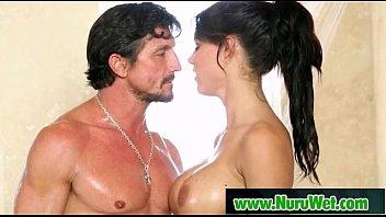 oil body japanese woman massage getting swimsuit Mature husband black