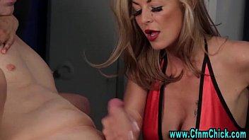 3 cum times femdom handjob Two gays have priceless sex