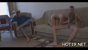 one night homemade stand Amateur blonde with big tits gives pov blowjob