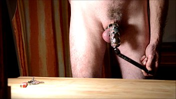 chastity sissy in orgasm Ameture bib tit moms