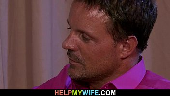 wife english subtitle young Husband getting facial