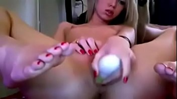 pornhublive in wet slides her pussy from a aimae dildo Cum milking slut