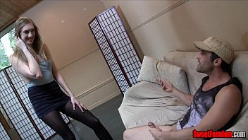 joi addicted femdom Ice la fox melts from her own heat