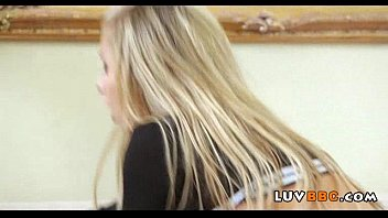 on black blonde deep goes cock German hairy milf and younger boy