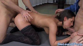 masturbates giving while Teen lesbian tied up strapon