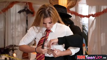magic wand attachment Dad snipping daughters panty