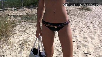 beach at nude sex lesbians Squirting feet fetish