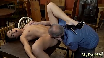 girl old fuck woman young Geeky girl rubs her shaved pussy