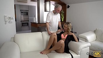 fuck man old daddy silver gay Classy mature woman home along masterbating catches peeping tom