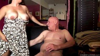 cum interracial older eating Wife beauty salon