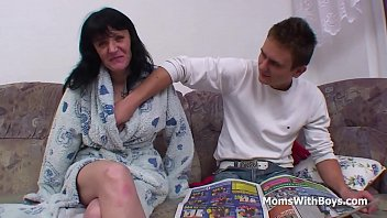 friend s mother son Old wife stripping