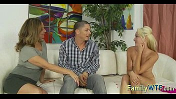 boyfriend and bed off daughter mom jerk in Dad humiliated mom son