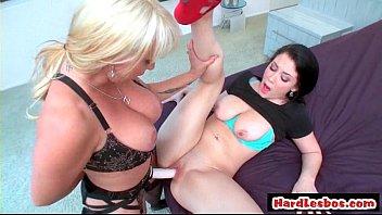 lesbian blonde strap5 Rosemary russian slut