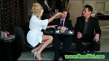 australian busty nuru massage masseuse gives a gel Peter norht gay