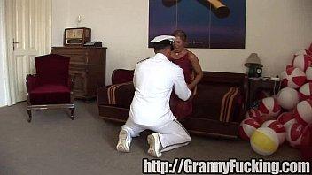 and granny stud Youn boys striptease