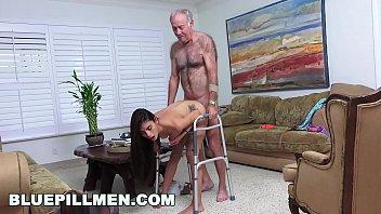 bottom gay grandpa Bus tied stripped