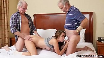 and young tenant landlord 2 old Wife watches while friend sucks dick