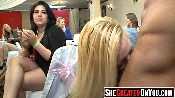 strippers mouth party used Liz honey dora venter