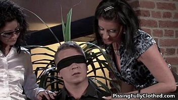 wives a younger sharing two guy Black cream pie