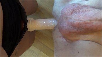 on mistress guy strap by Women in one piece bikni get fucked